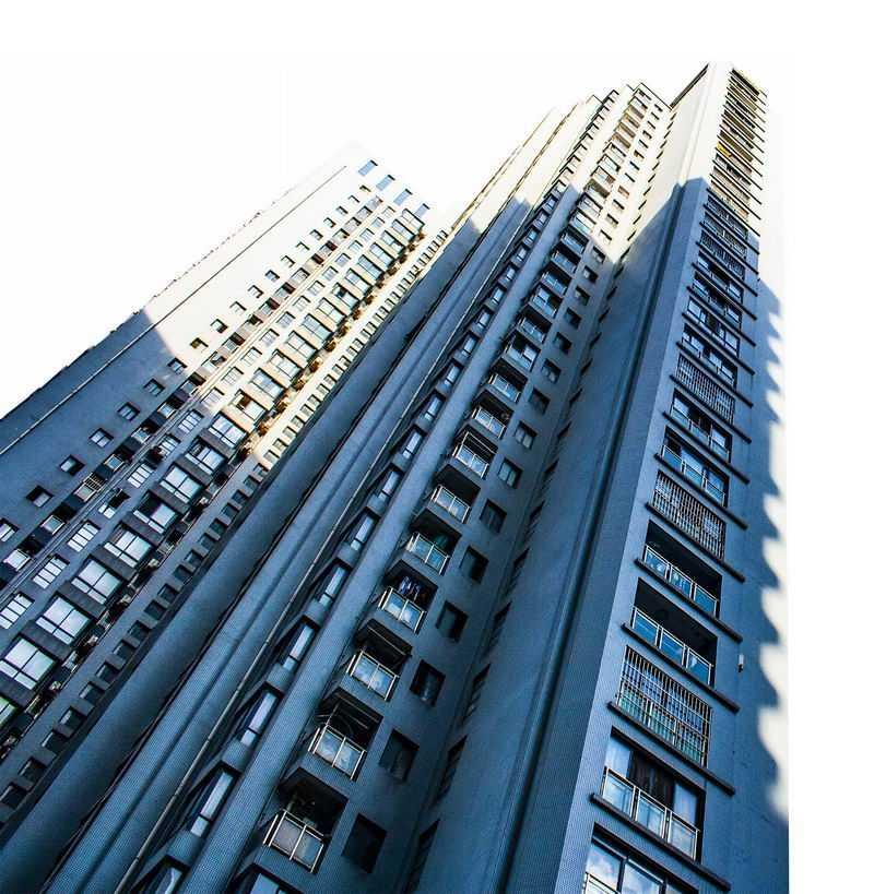 仰视视角的小区高层建筑高楼大厦2224848png图片免抠素材