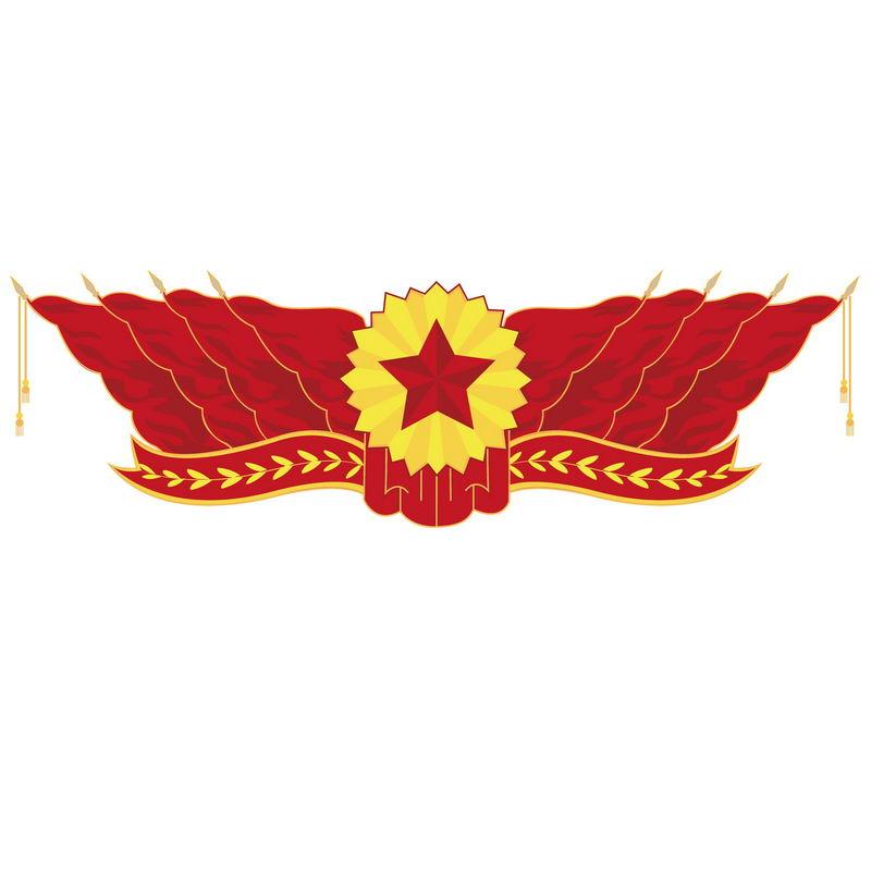 大会堂会议十面红旗五角星装饰9370212图片素材 节日素材-第1张