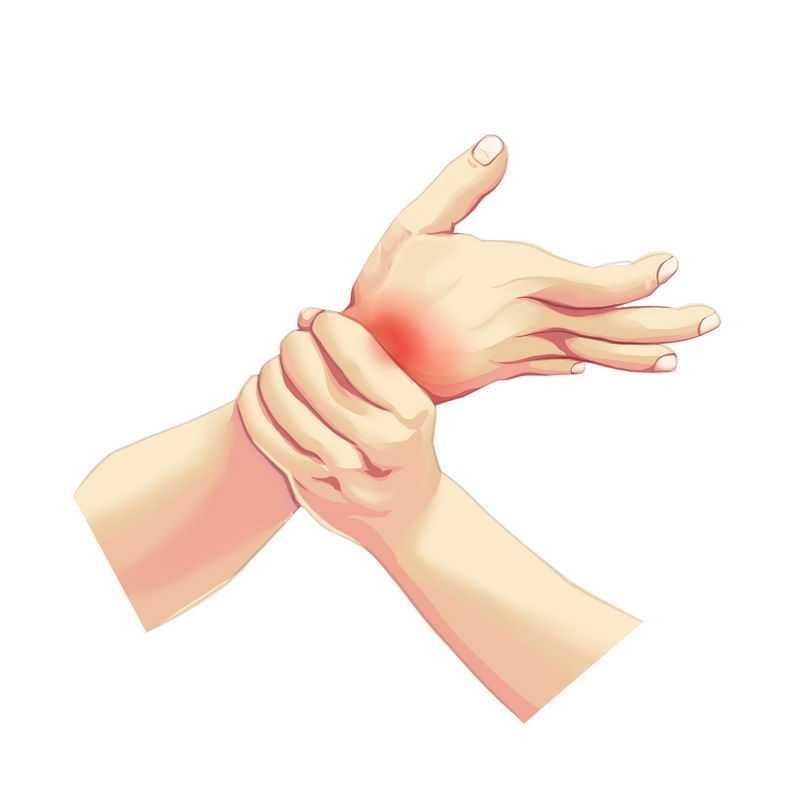 手绘风格握住手腕望闻问切中医诊断手法1068885免抠图片素材