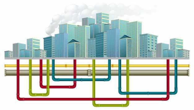 城市建筑和地下管道结构5895313矢量图片免抠素材