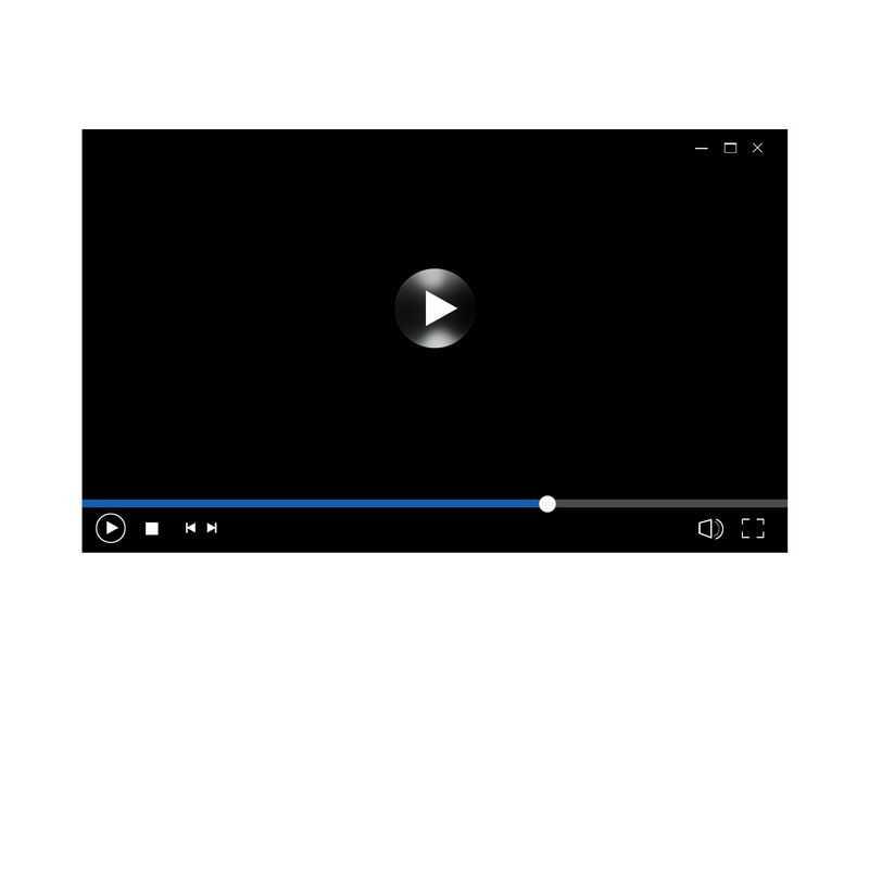 黑色电脑视频播放器界面设计7092120图片素材