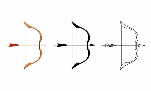 3款弓箭射箭7945070矢量图片免抠素材