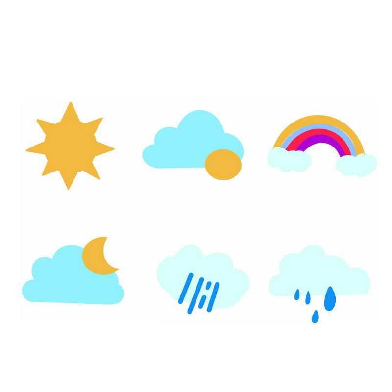 扁平化风格卡通天气预报图标6406560图片素材