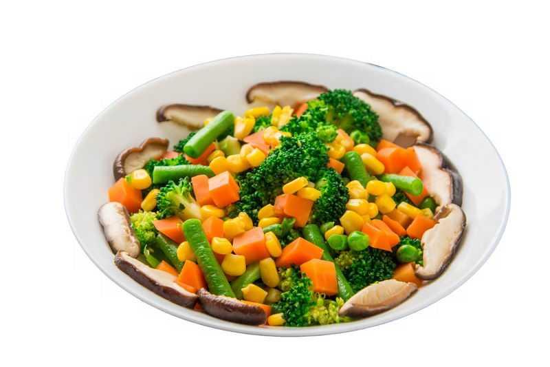玉米粒豇豆西兰花胡萝卜香菇豌豆美味蔬菜沙拉2676955png图片免抠素材