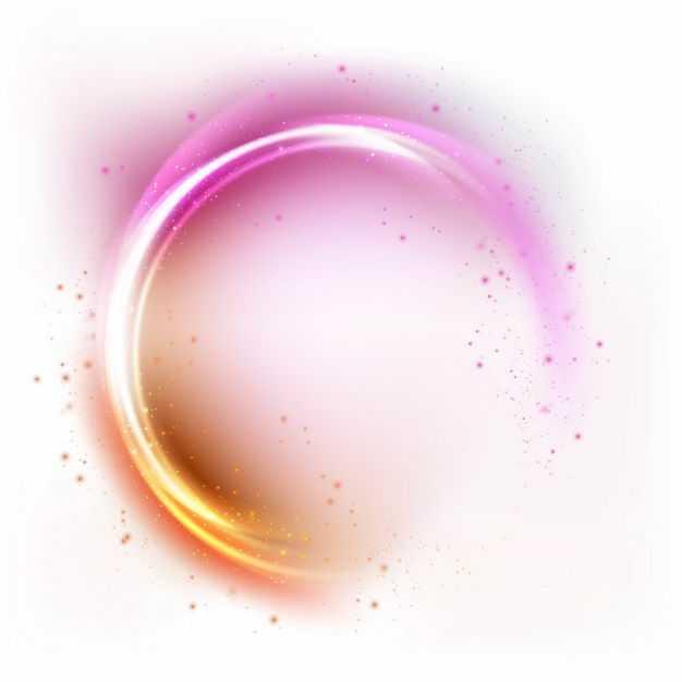 绚丽的橙色粉红色彩色炫光发光光圈效果9270905矢量图片免抠素材