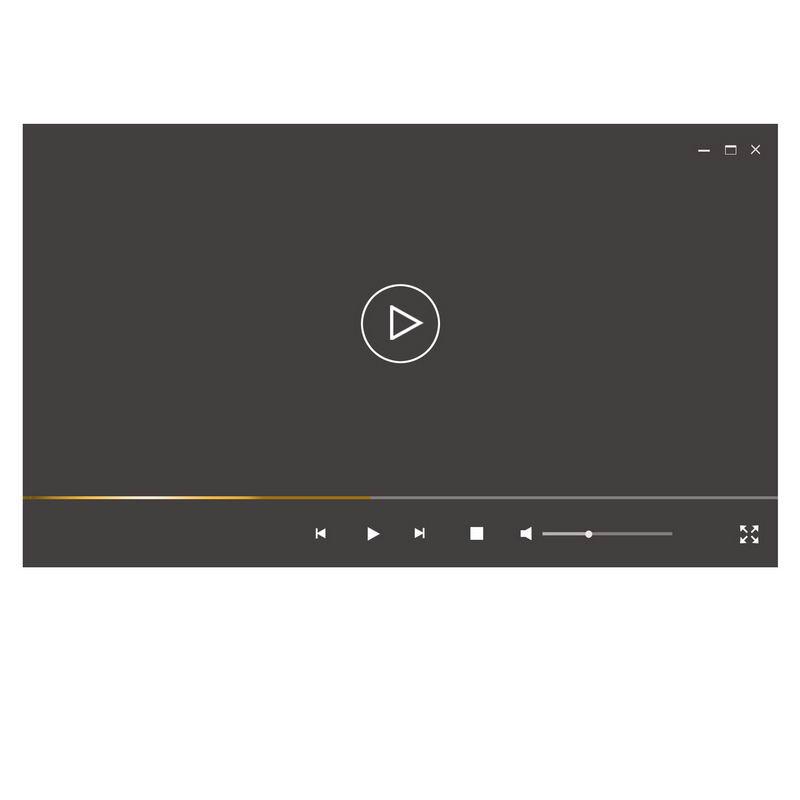 扁平化风格深灰色电脑视频播放器界面设计1923621图片素材 UI-第1张