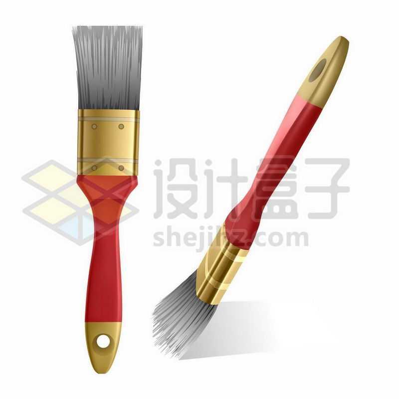红色的油漆刷子1072071矢量图片免抠素材