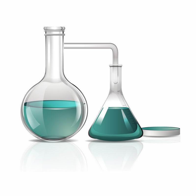 圆底烧瓶锥形瓶和培养皿等化学实验教学仪器6060169AI矢量图片免抠素材 科学地理-第1张