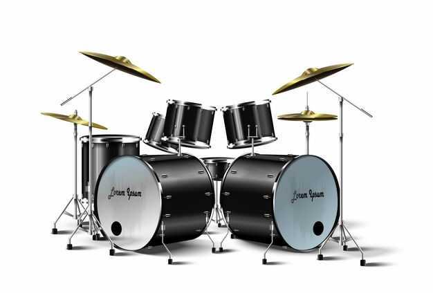 黑色的架子鼓爵士鼓西洋乐器打击乐器9629673矢量图片免抠素材