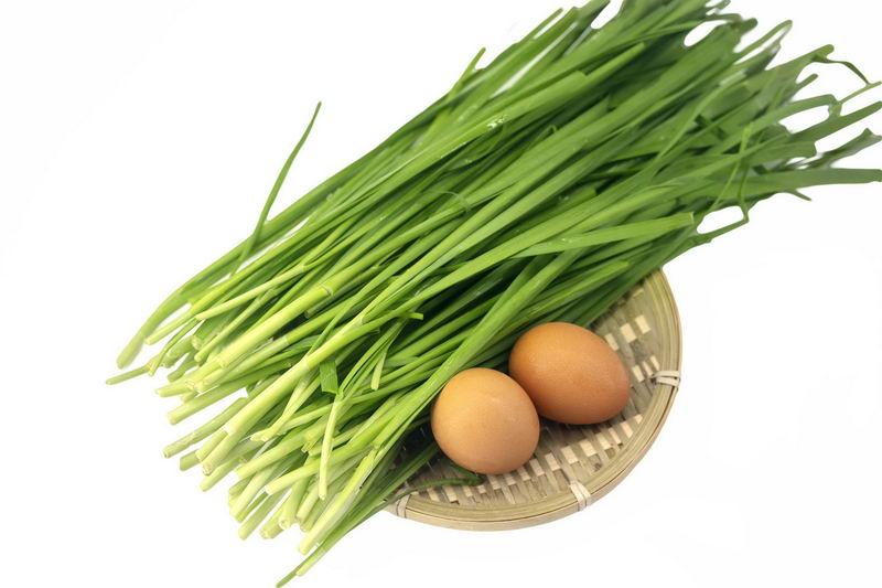 生的韭菜和鸡蛋美味食材1374793png图片免抠素材 生活素材-第1张