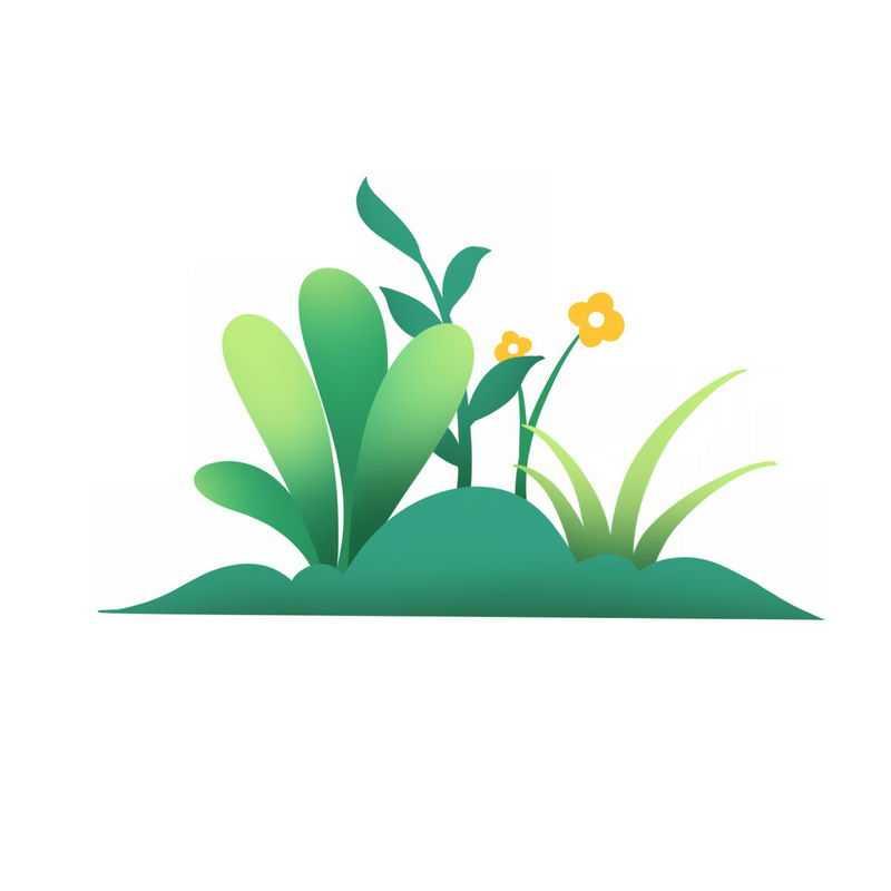 卡通草丛灌木丛小花8447218免抠图片素材