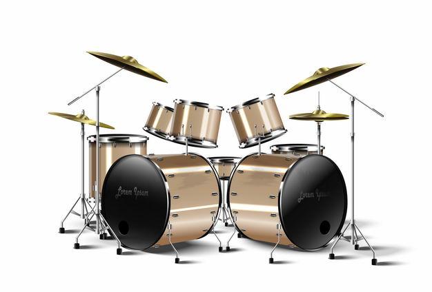 金色架子鼓爵士鼓西洋乐器打击乐器2239347矢量图片免抠素材 休闲娱乐-第1张