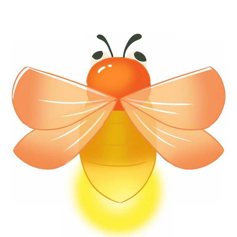 张开翅膀的卡通萤火虫6544783png图片免抠素材