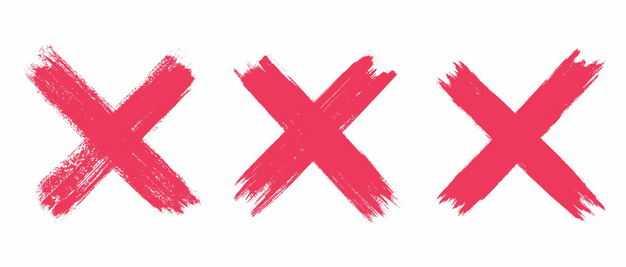 3款红色手绘叉号错号8105166矢量图片免抠素材