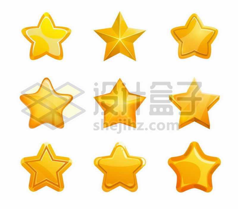 9款黄色五角星图案8915020矢量图片免抠素材