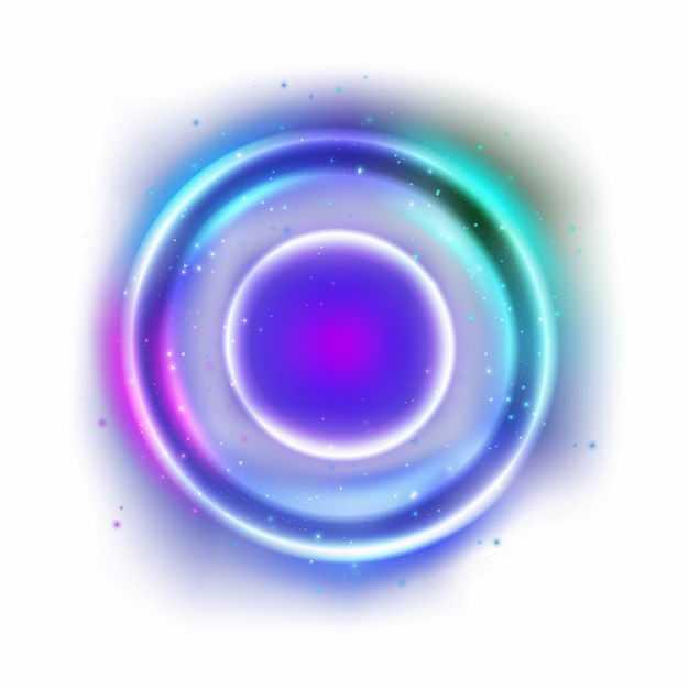 绚丽的紫色蓝色彩色炫光发光光圈效果6522986矢量图片免抠素材