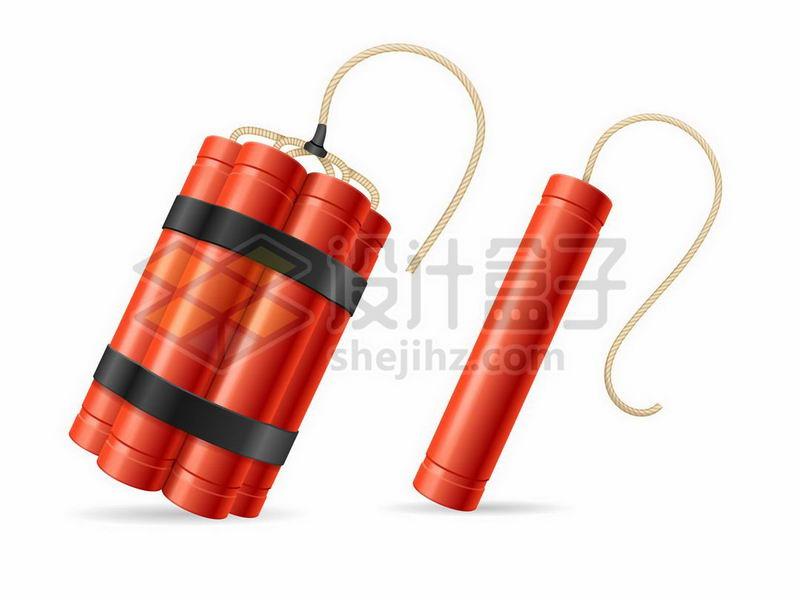 2款红色的炸弹1436300矢量图片免抠素材 军事科幻-第1张