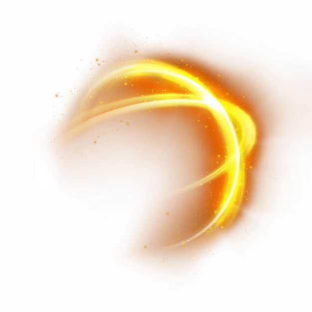 黄色红色炫光发光效果1458143矢量图片免抠素材