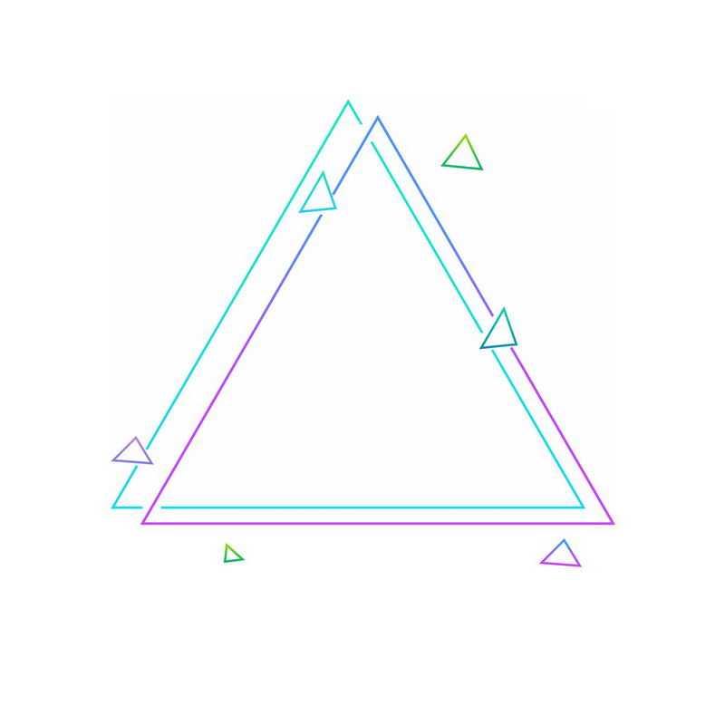 绿色紫色双三角形图案7057564免抠图片素材