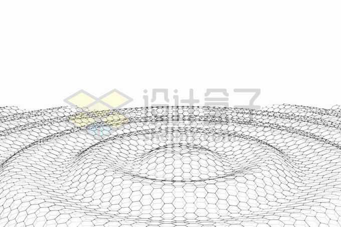 由六边形组成的涟漪二维结构4986975矢量图片免抠素材