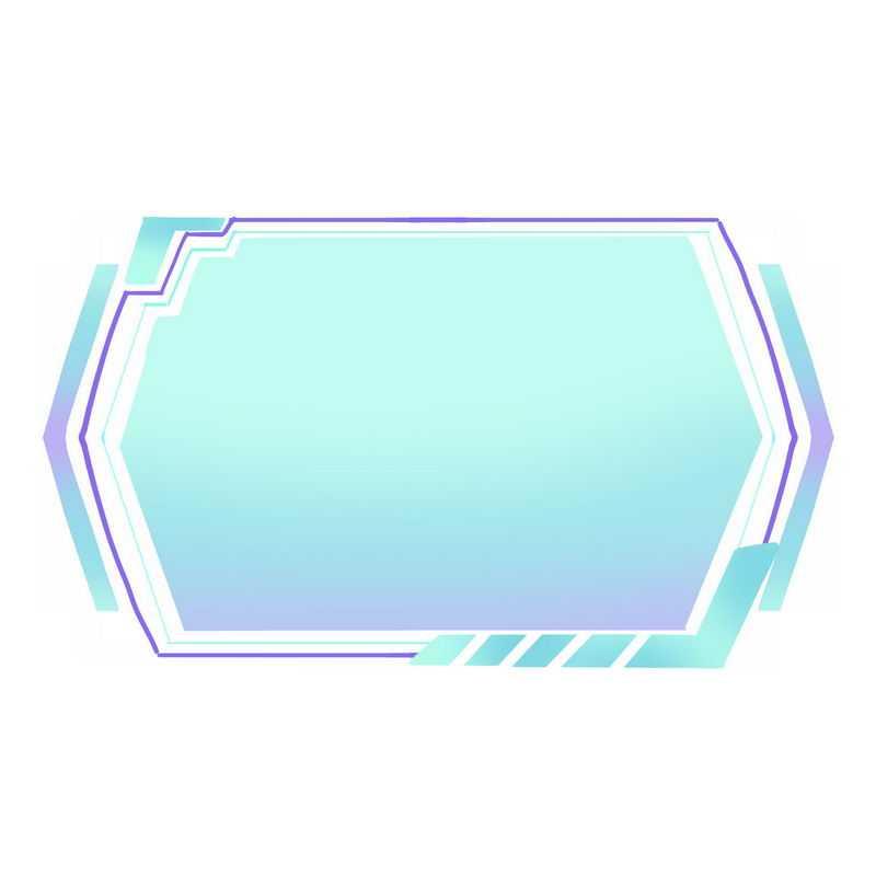 蓝色紫色科技风格信息框文本框7353057免抠图片素材
