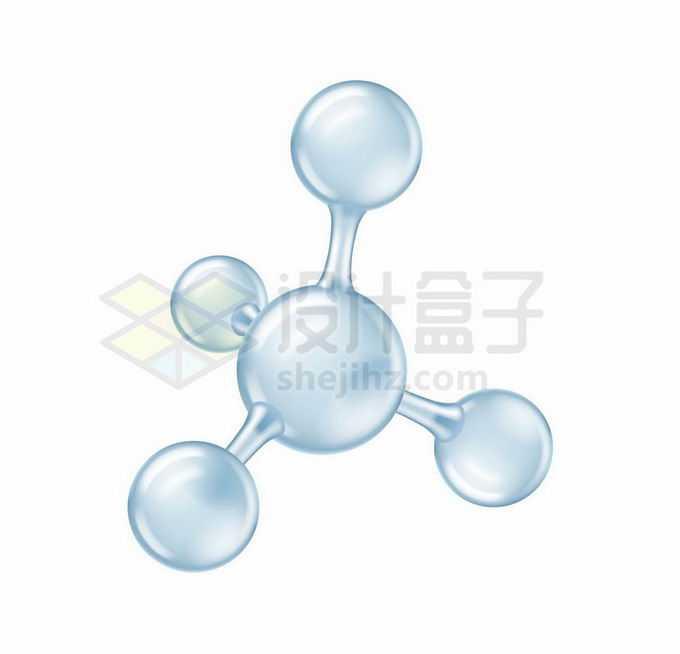 3D立体透明玻璃效果的分子模型2524758矢量图片免抠素材