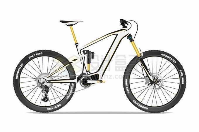 一辆山地自行车运动自行车侧面图8135002矢量图片免抠素材