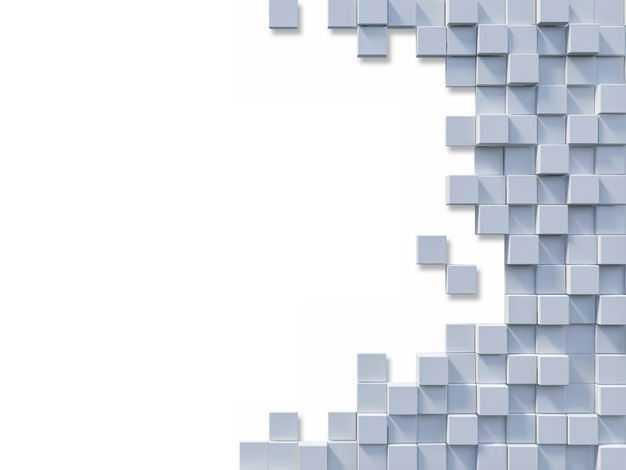 灰色3D立体方块组成的背景图8362032免抠图片素材