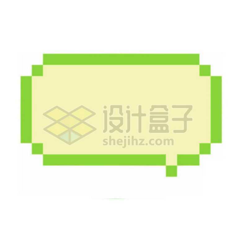 绿色像素风格的对话框5096094免抠图片素材
