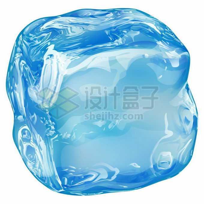 一块蓝色的冰块碎冰8554119矢量图片免抠素材