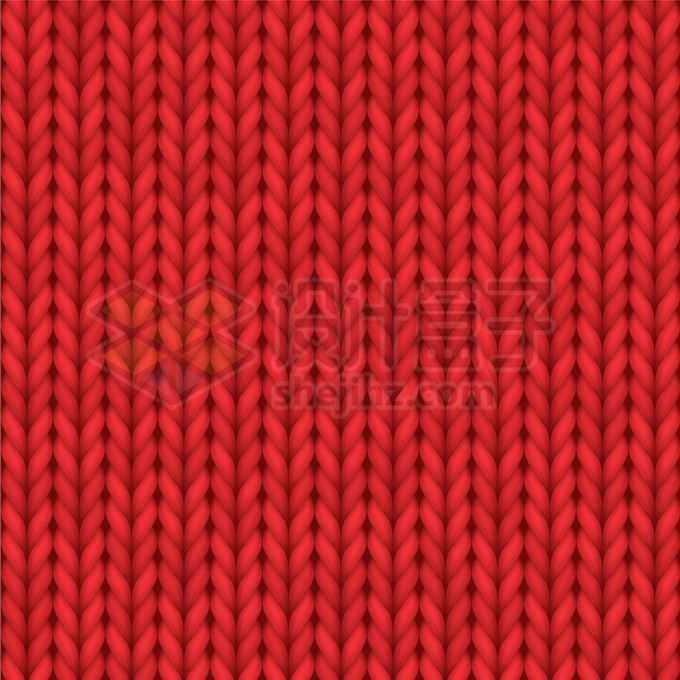 红色毛线衣纹理底纹花纹背景6933247矢量图片免抠素材
