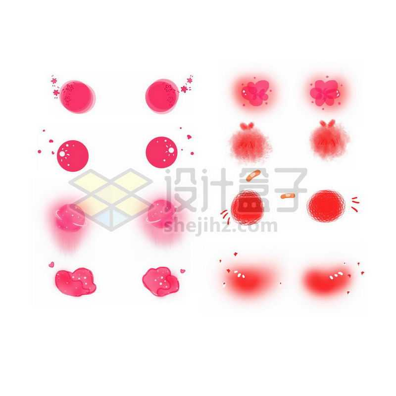 各种可爱的腮红表情涂鸦9848282免抠图片素材