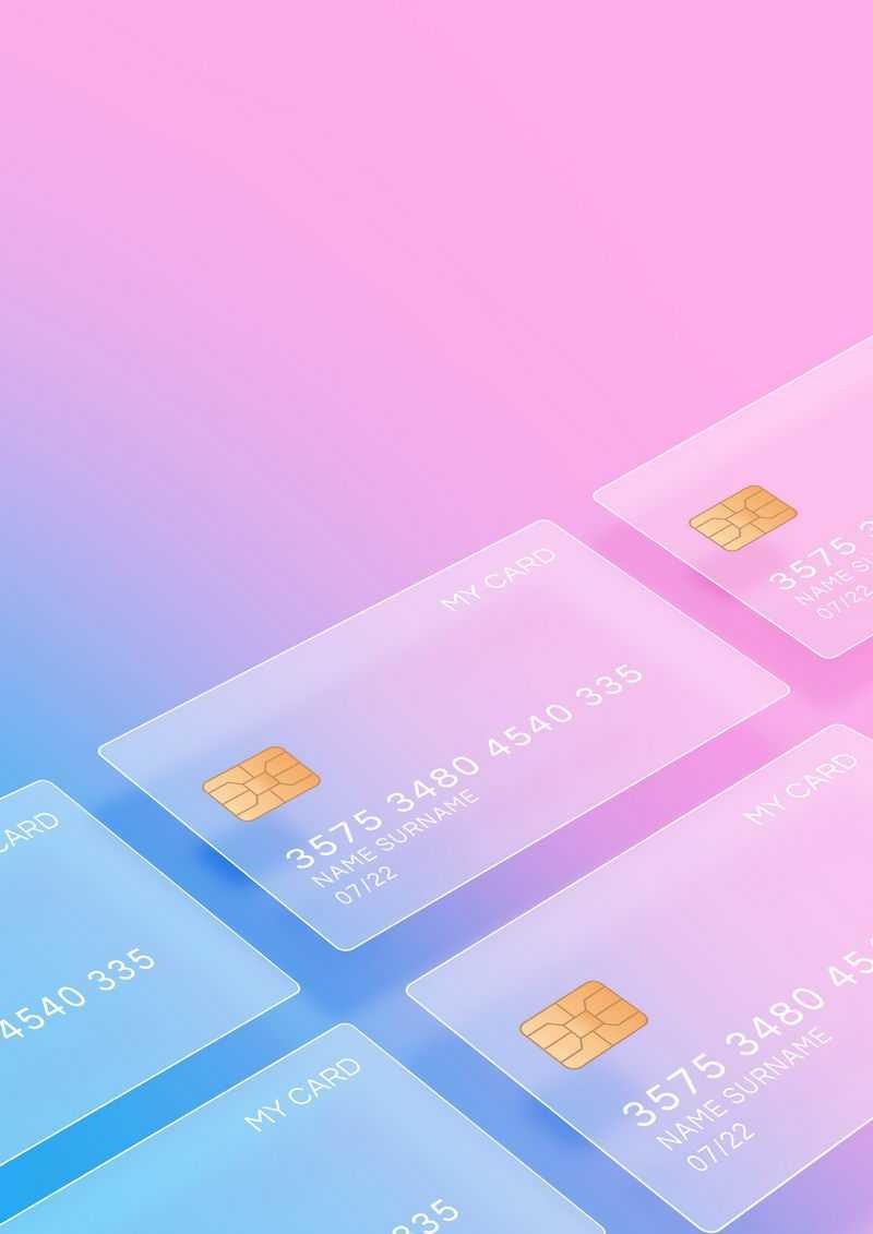 排列整齐的毛玻璃半透明效果银行卡5735339免抠图片素材