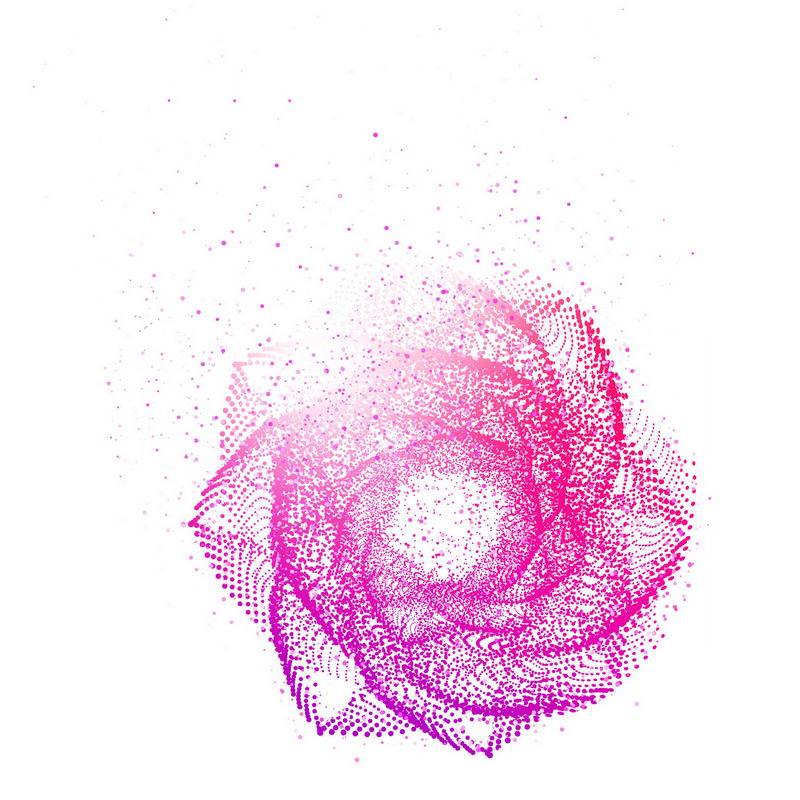 红色螺旋光点发光效果抽象图案9706225免抠图片素材 效果元素-第1张