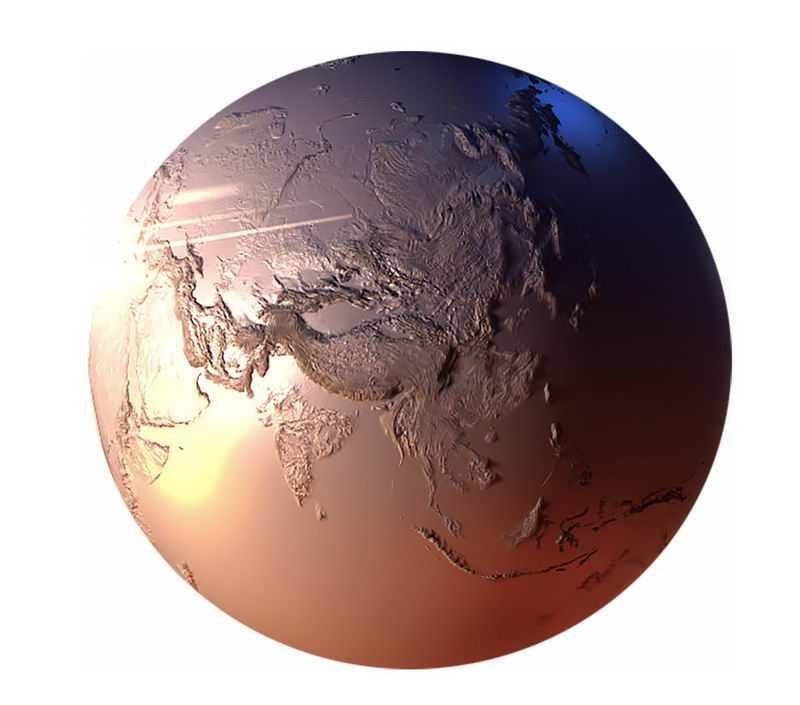金属光泽的3D立体地球模型2921508png免抠图片素材