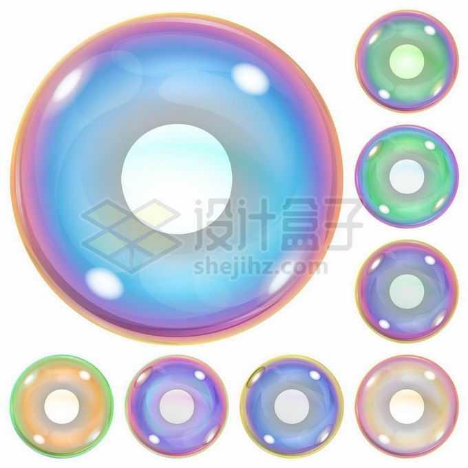 各种绚丽颜色的气泡肥皂泡1596078矢量图片免抠素材
