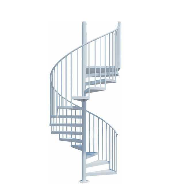 白色的旋转楼梯5216477免抠图片素材