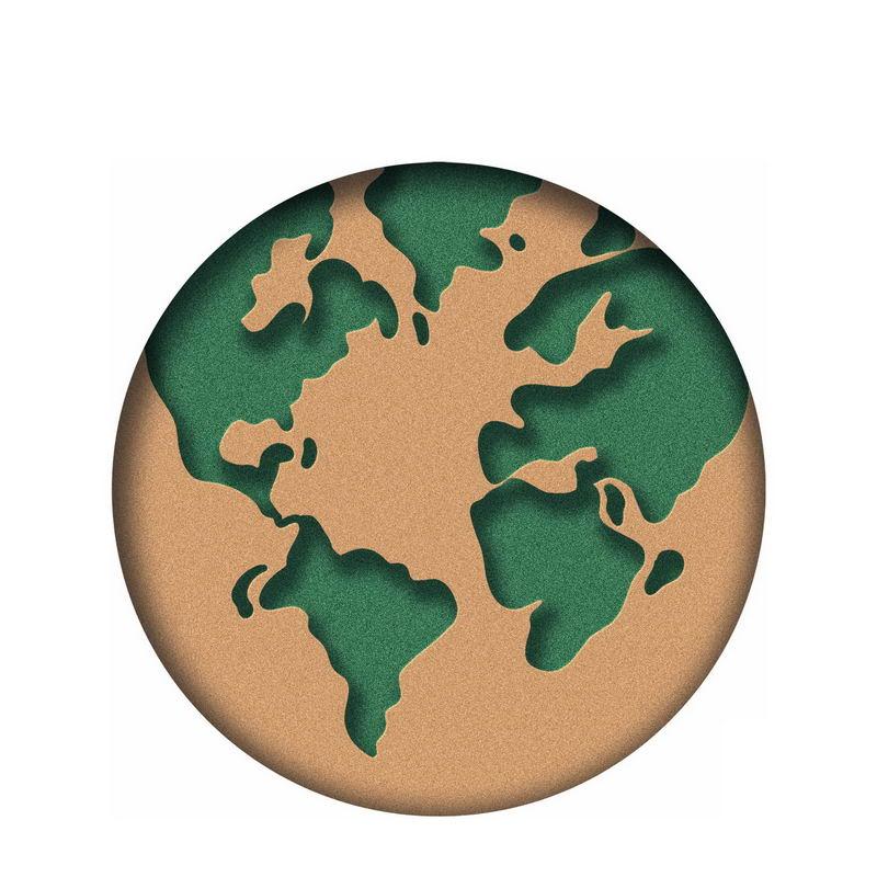 剪纸风格地球模型9440691图片素材 科学地理-第1张