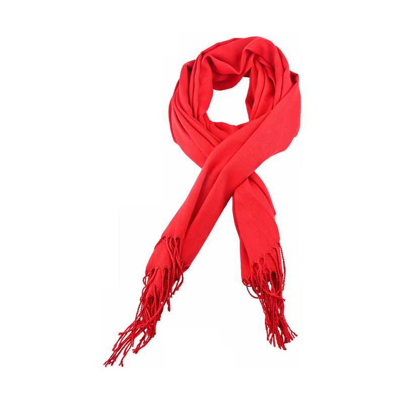 大红色的针织围巾围脖7948049png免抠图片素材