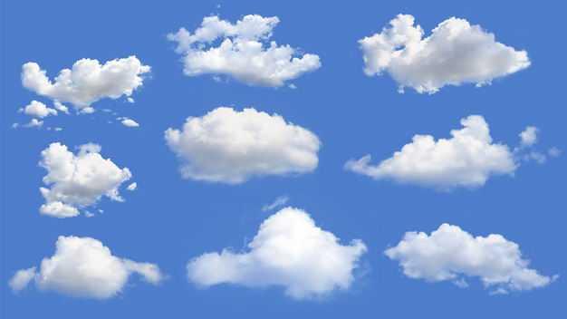 9款真实的云朵白云积云8148904免抠图片素材