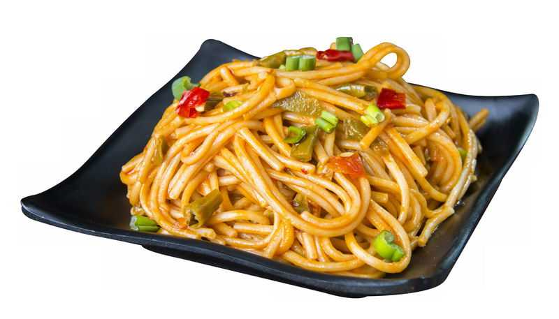 一盘炒面条葱油拌面热干面美味美食6982314png免抠图片素材