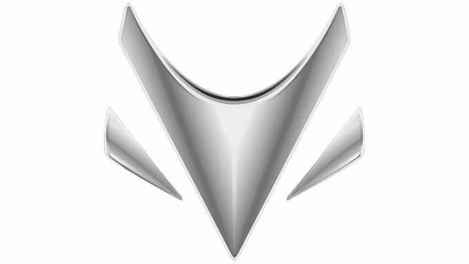 高清金属银色Arcfox极狐汽车标志品牌logo png免抠图片素材