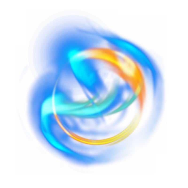 绚丽的彩色光芒光晕光圈发光抽象光球效果4118722免抠图片素材