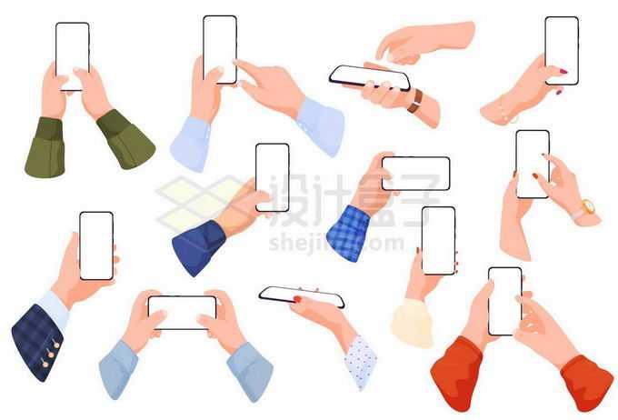 各种操作智能手机的手势6702296矢量图片免抠素材