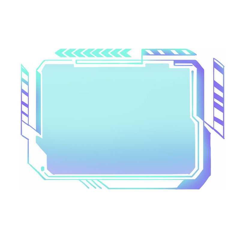 蓝色紫色科技风格信息框文本框3685672免抠图片素材