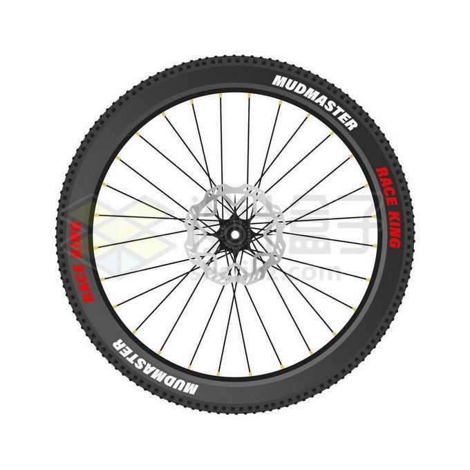 山地自行车的轮胎2527660矢量图片免抠素材