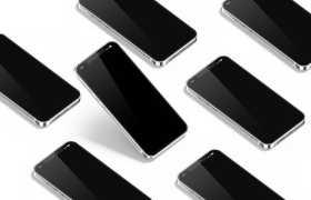 排列整齐的一堆苹果iPhone12手机屏幕显示样机4666473图片素材