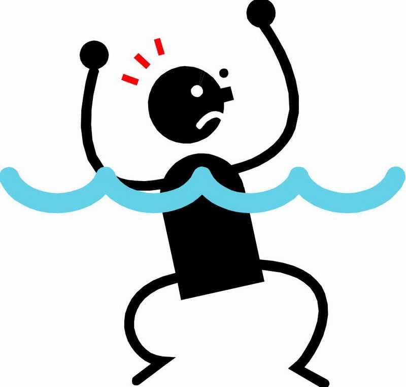 水深危险禁止游泳黑色小人儿溺水5582200png免抠图片素材