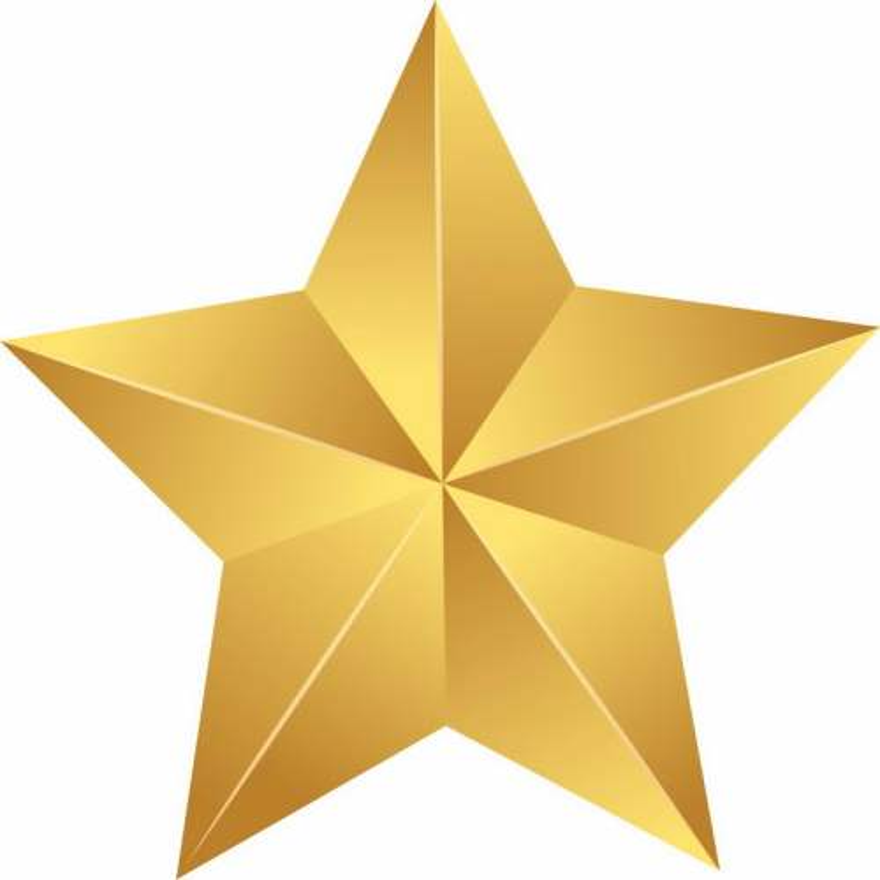 3D立体风格的金色五角星图案8239457png免抠图片素材