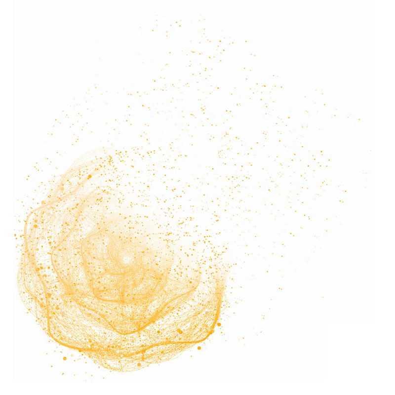 黄色螺旋光点发光效果抽象图案8691252免抠图片素材